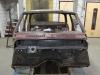 Schutbord van de Opel afgebeten.