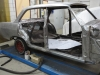 Rechter kant van de Opel helemaal geschuurd.