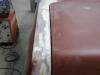 Naad tussen linker achterscherm en kofferdeksel aangepast